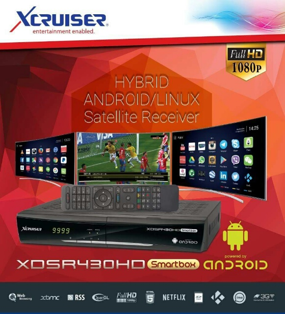 my new box xcruiser 430 hybrid android/linux reciever - Golden