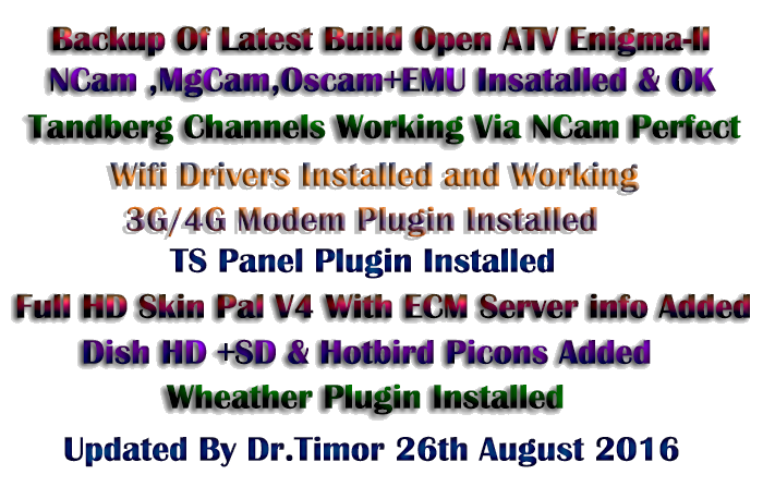 Backup Of Latest E2 Open ATV 5 3 for Spark-7162 (26-08-2016