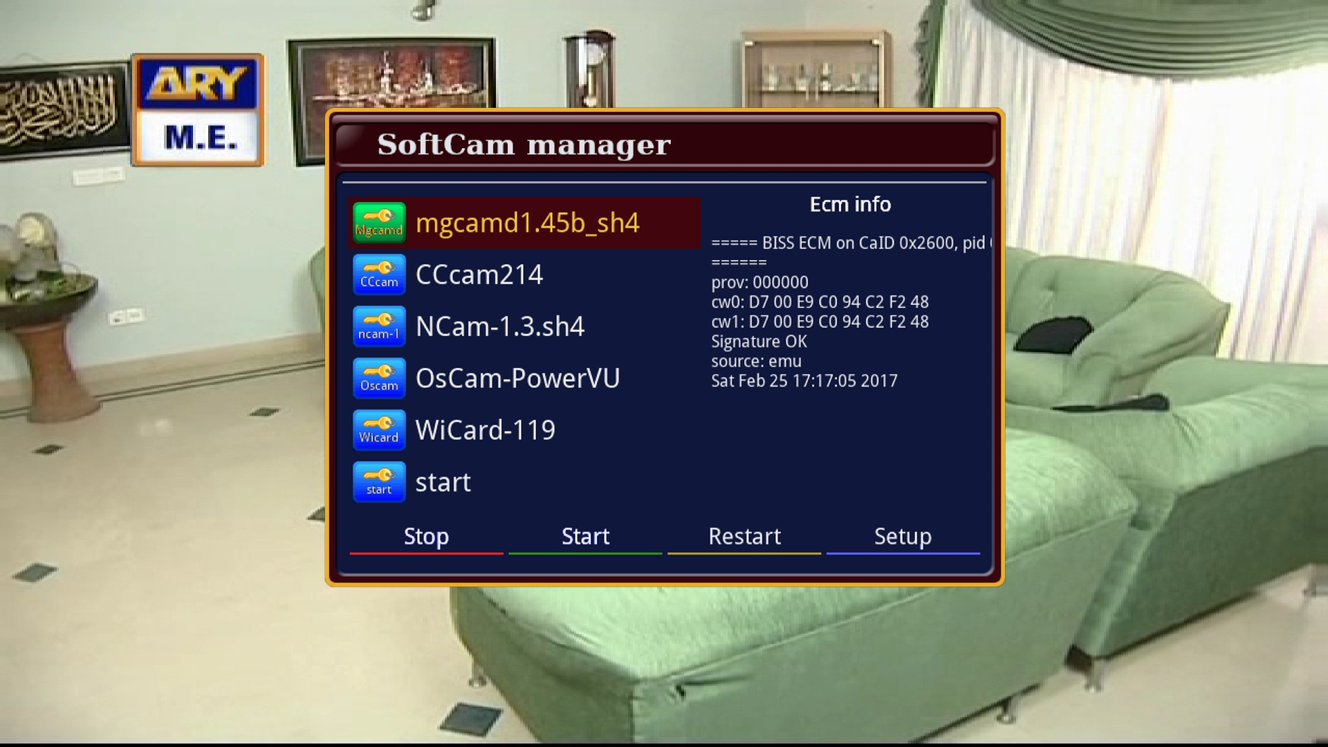 Softcam Key Oscam