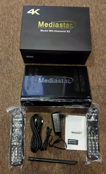 New 4K MediaStar MS-Diamond x2 Forever Server UHD Box - Golden