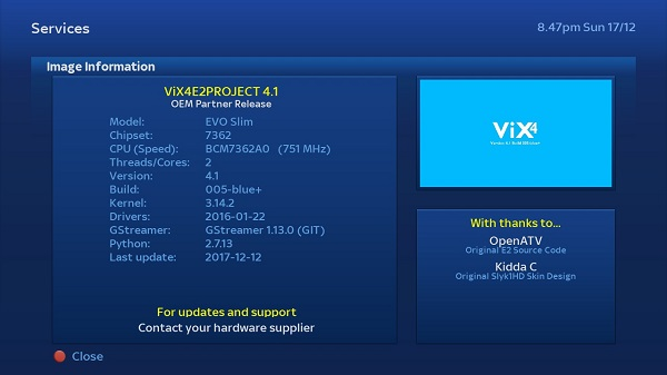New update ViX4E2PROJECT +VERSION 4 1 Build 005-blue - Golden